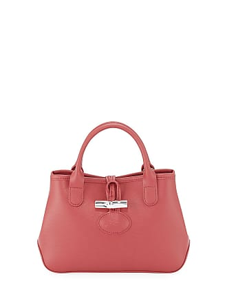 61229b82047b Longchamp Roseau Mini Grain Leather Top-Handle Crossbody Bag