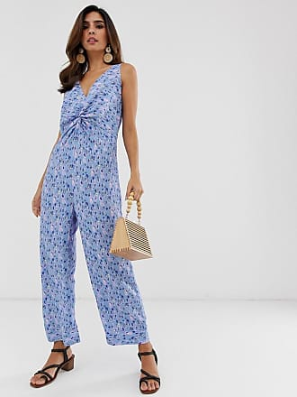 Y.A.S printed v neck culotte jumpsuit - Multi