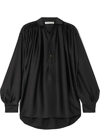 Philosophy di Lorenzo Serafini Gathered Satin Blouse - Black