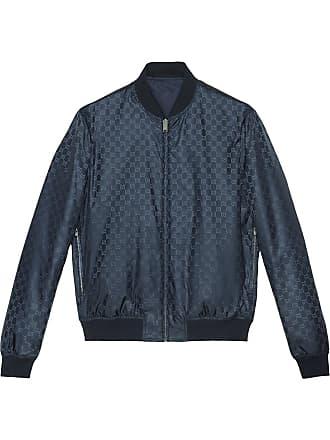 c421346d4763 Gucci Reversible GG Jacquard Nylon Bomber Jacket - Blue