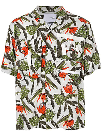 Yoshiokubo tropical print shirt - White