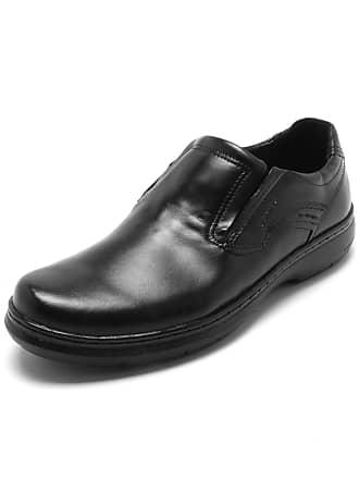Pegada Sapato Social Couro Pegada Recortes Preto