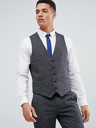 Farah Henderson Fleck slim fit suit vest - Gray