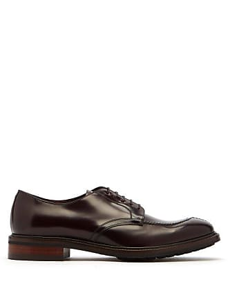 Paul Smith Andrew Stitch Front Leather Derby Shoes - Mens - Burgundy