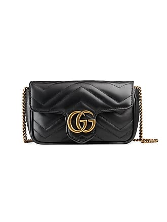 Gucci GG Marmont matelassé leather super mini bag - Black