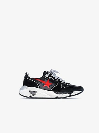 Golden Goose Golden Goose Black, Red and White Donna suede sneakers