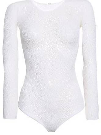 Wolford Wolford Woman Lee Open-knit Wool-blend Thong Bodysuit White Size XS