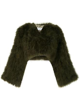 Sonia Rykiel turkey feather bolero jacket - Verde
