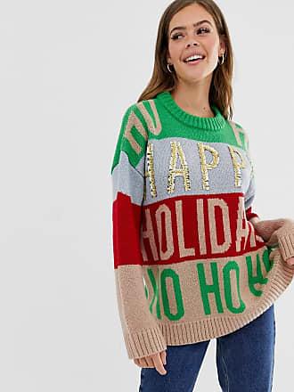 Asos Kerstmis - Oversized jumper met versiering-Multi