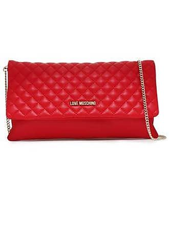 ccb5264ca6 Love Moschino Love Moschino Woman Quilted Faux Leather Shoulder Bag Red Size