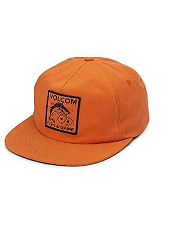 Volcom Mens Fish and Gaming Five Panel Snap Back Hat, Tiger Lily One Size Fits All