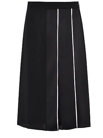 Givenchy Black silk panelled midi skirt