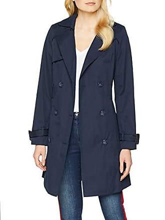 c4896e07ff42 Nafnaf JHNV5 Trench Coat Femme Bleu (Bleu Marine 567) 36 (Taille Fabricant
