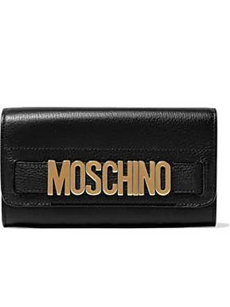Moschino Moschino Woman Embellished Textured-leather Continental Wallet Black Size
