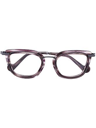 Moncler Armação de óculos quadrada - Marrom