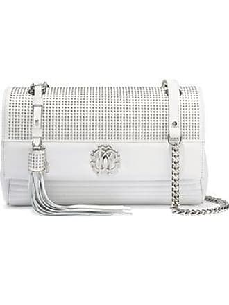 Roberto Cavalli Roberto Cavalli Woman Studded Quilted Leather Shoulder Bag White Size
