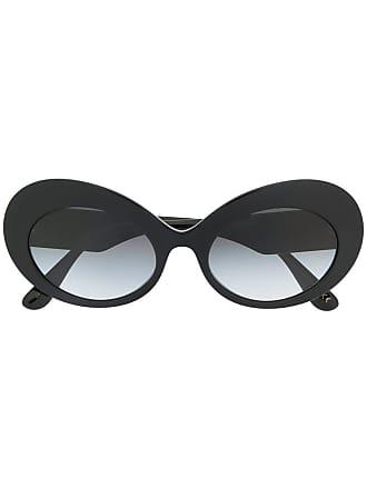 Dolce & Gabbana Eyewear oversized cat-eye sunglasses - Preto