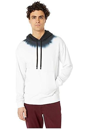 Zanerobe TD Rugger Hood Sweatshirt (White/Black) Mens Clothing