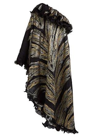 974959a383d0 Dundas Feather Fil Coupé Asymmetric Gown - Womens - Black Gold