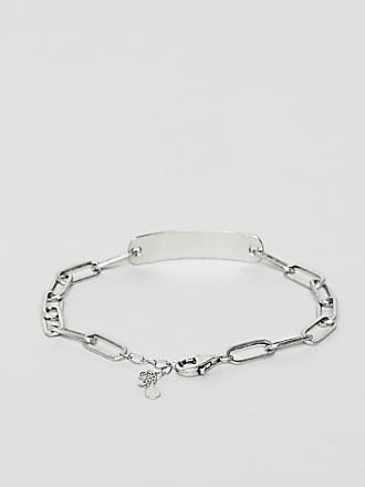 5285133236388 DesignB London DesignB id chain bracelet in sterling silver exclusive to  ASOS - Silver