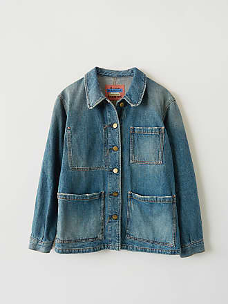 Acne Studios Paloma Mid Blue Trash Indigo blue Denim workwear jacket