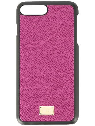 Dolce & Gabbana Capa para iPhone 8 Plus de couro - Roxo