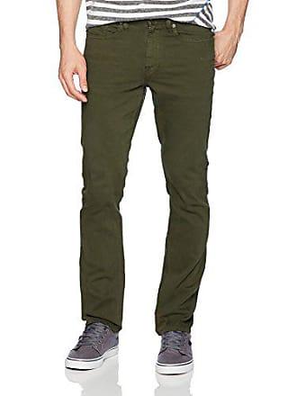 DC Mens Sumner Straight Denim Jeans Pants, Dark Olive, 28