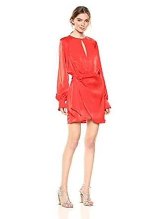 f3077afcd14c Finders Keepers Womens Nightlife Longsleeve Keyhole Wrap Skirt Dress, Red, S