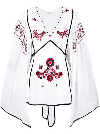 Vita Kin Blusa de linho com bordado - Branco
