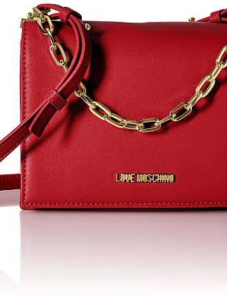 Love Moschino Borsa Smooth Pu, Womens Cross-Body Bag, Red (Rosso), 8x15x21 cm (W x H L)