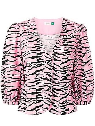 Rixo Camisa com animal print - Rosa