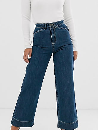 c41af0de7a70cb Vero Moda Petite Jeans a vita alta con fondo ampio - Blu
