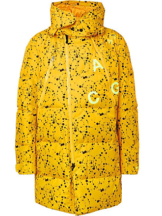 965cfbb6 Nike Acg Oversized Quilted Printed Ripstop Hooded Down Parka - Yellow