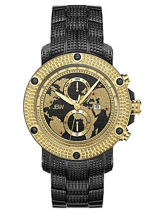 Zales Mens JBW Veyron 1/5 CT. T.w. Diamond and Ruby Accent 18K Gold Plate and Black IP Two-Tone Watch (Model: J6360E)