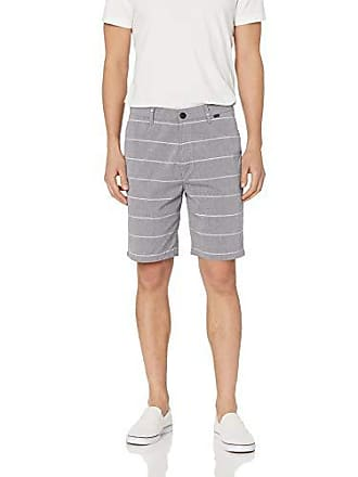 Hurley Mens Icon Chino Regular Fit 21 Walk Shorts, Black Stripe 34