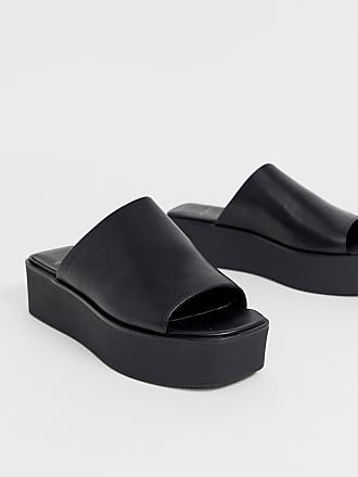 8f2dc72a747 Vagabond Bonnie black leather platform slides - Black