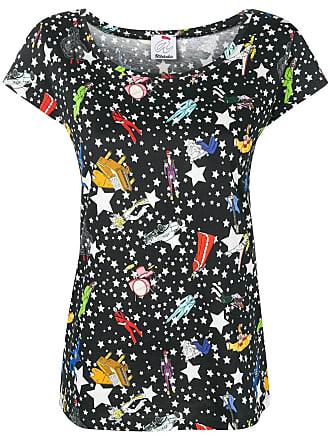 Ultra Chic Paradise patterned T-shirt - Black