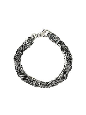 Emanuele Bicocchi Bracelete de prata desfiada - Metálico