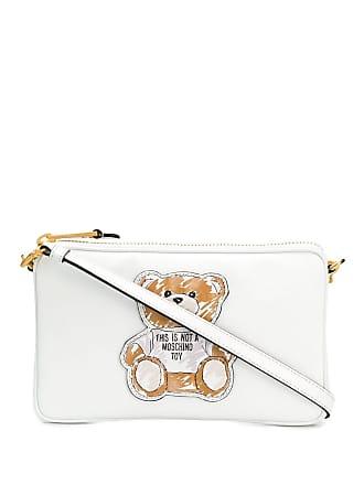 Moschino Teddy Bear logo shoulder bag - White