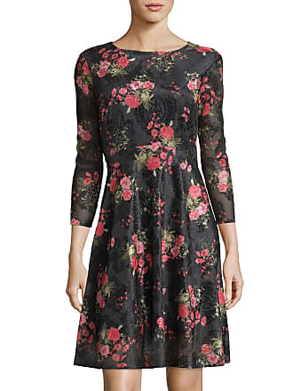 5twelve Floral Print Embroidered A-Line Dress