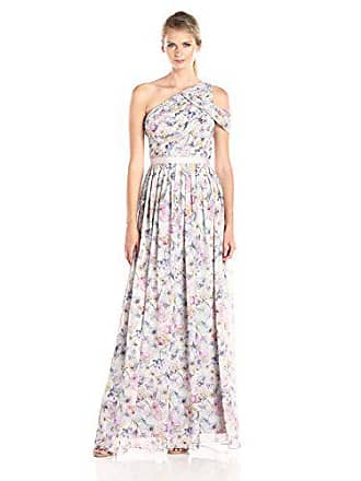 c5a45e849d Donna Morgan Womens Chloe Floral Drape Shoulder