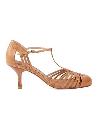 Sarah Chofakian strappy pumps - Brown