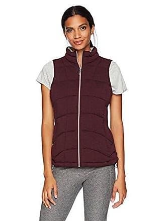 Andrew Marc Womens Knit Vest, Burgundy Heather L