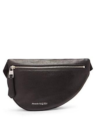 Alexander McQueen Alexander Mcqueen - Belt Mini Leather Cross Body Bag - Mens - Black