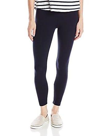 Joan Vass Womens Classic Cropped Legging, Navy 2