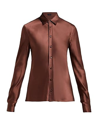 Joseph George Satin Blouse - Womens - Brown