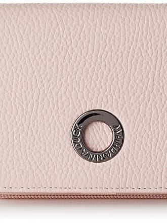 Mandarina Duck Mellow Leather Portafoglio Womens Wallet, Pink (Rose Metal), 3x10x14 Centimeters (W x H x L)