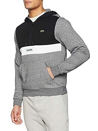 9a03c4ce0a Lacoste Sport SH3505 Sweat-Shirt Homme Gris (Noir/Senecio Chiné-Blanc-