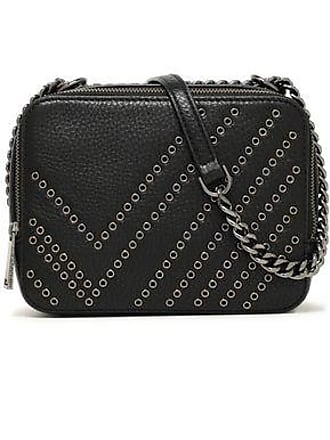 fd909639a26d4 Diane Von Fürstenberg Diane Von Furstenberg Woman Gemini Eyelet-embellished  Pebbled-leather Shoulder Bag