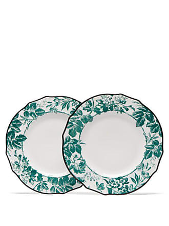 Gucci Herbarium Porcelain Dinner Plate Set - Womens - Green Multi